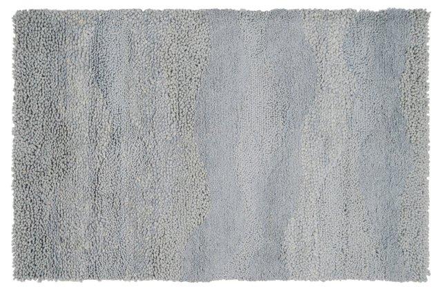 2' x 3' Phemes Shag Rug, Lavender Gray