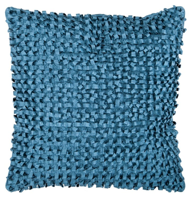 Looped Pillow, Blue