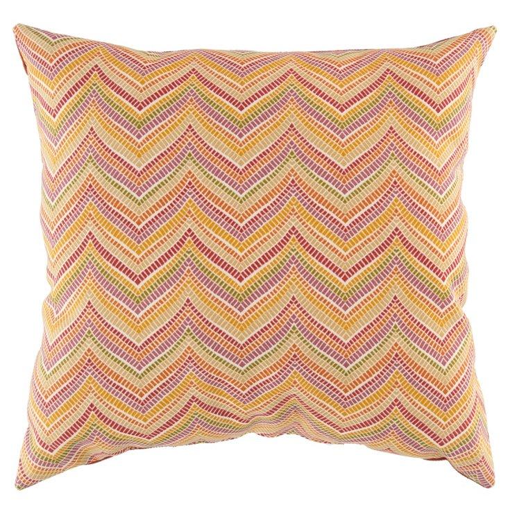 S/2 Chevron 18x18 Pillows, Bright