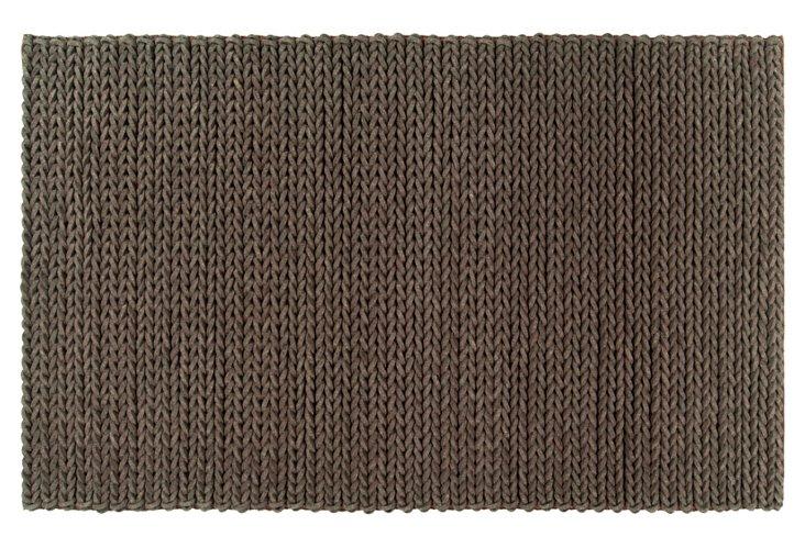 2'x3' Wright Braided Rug, Mocha