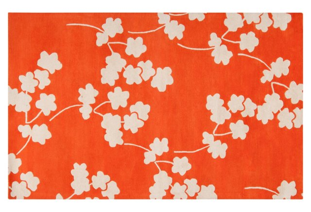 Columbia Rug, Orange/Ivory