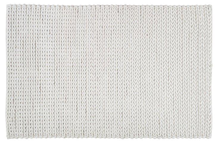 8'x11' Wright Braided Rug, Winter White