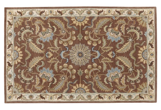 Mercury Rug, Brown/Cream/Sky