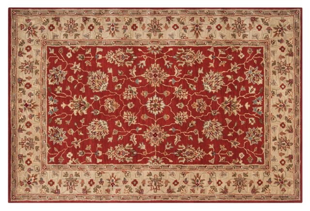 Valley Rug, Brick Red/Wheat