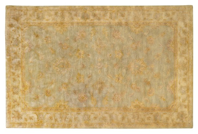 "2'6""x8' Jett Rug, Pale Aqua/Golden"