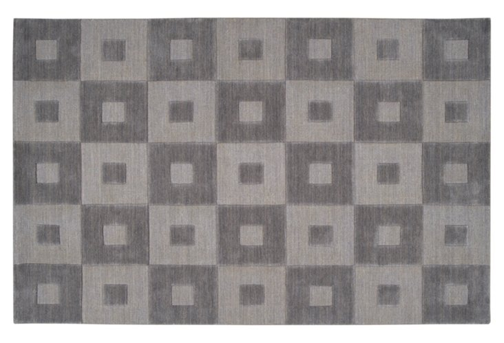 Carley Rug, Charcoal Gray
