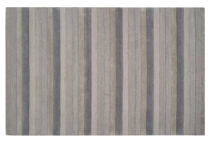 Paisley Rug, Charcoal/Dove Gray