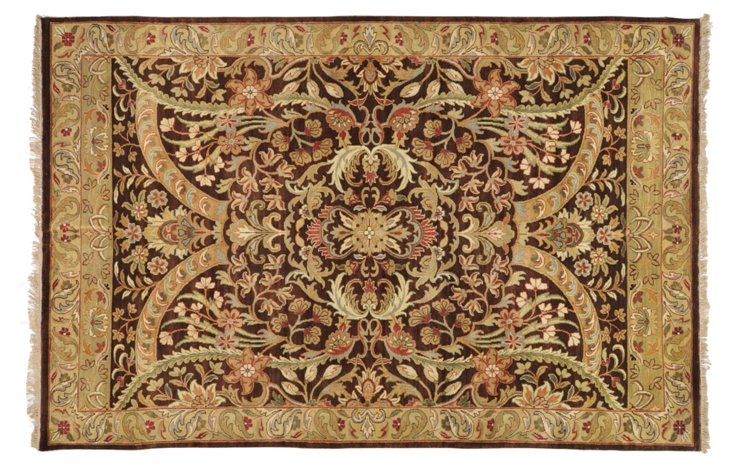 Earlton Rug, Dark Brown/Khaki