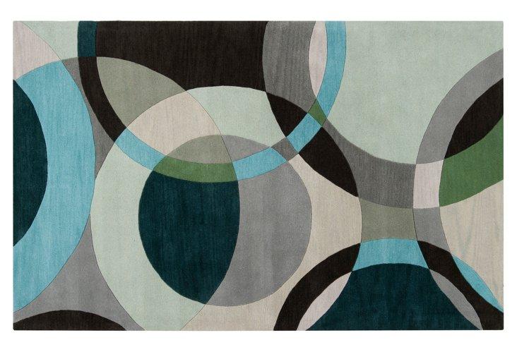 6' x 9' Bedons Rug, Gray/Multi