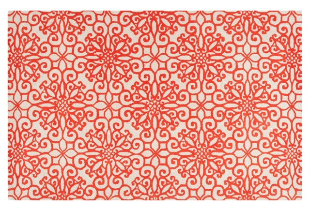 Bogard Rug, Rust Red/White
