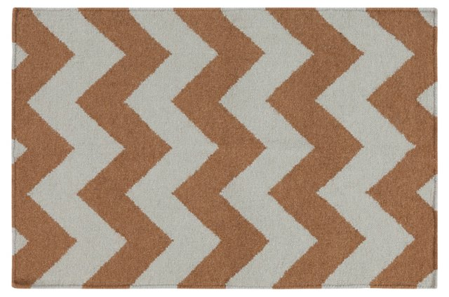 2'x3' Pi Flat-Weave Rug, Dried Oregano