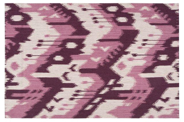 Sam Flat-Weave Rug, Deep Rose
