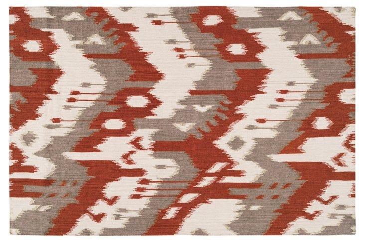 Shoshanna Flat-Weave Rug, Adobe