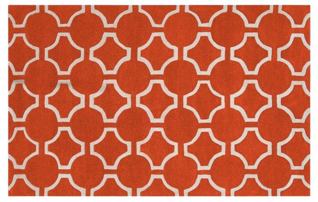 8'x11' Theia Rug, Orange