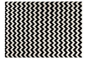 8'x11' Ali Flat-Weave Rug, Black