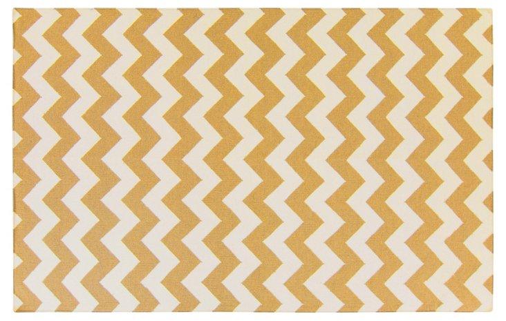 Mia Flat-Weave Rug, Golden