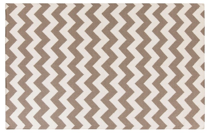 Pi Flat-Weave Rug, Taupe