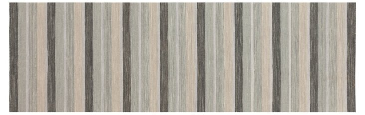 "2'6""x8' Mag Flat-Weave Runner, Mushroom"