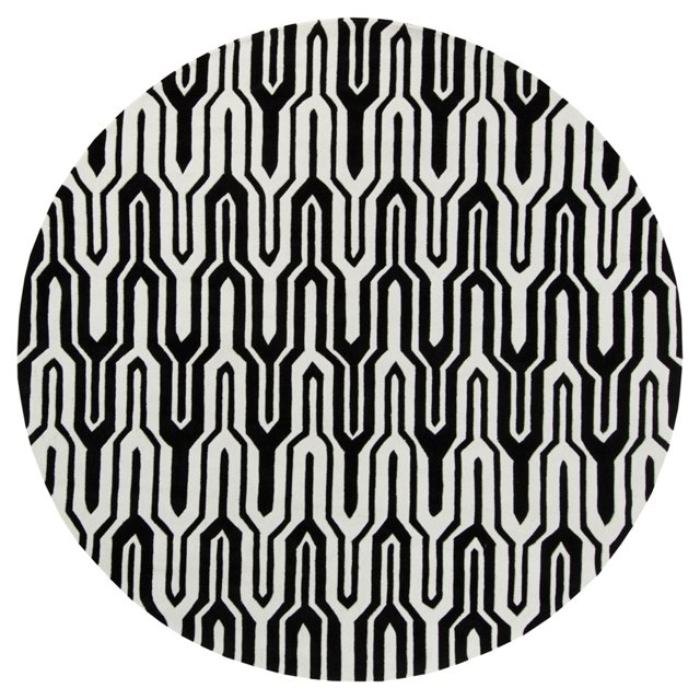 Hudson Rug, Caviar/White