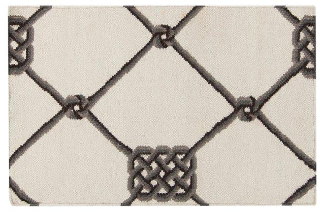 2'x3' Roy Flat-Weave Rug, Ivory