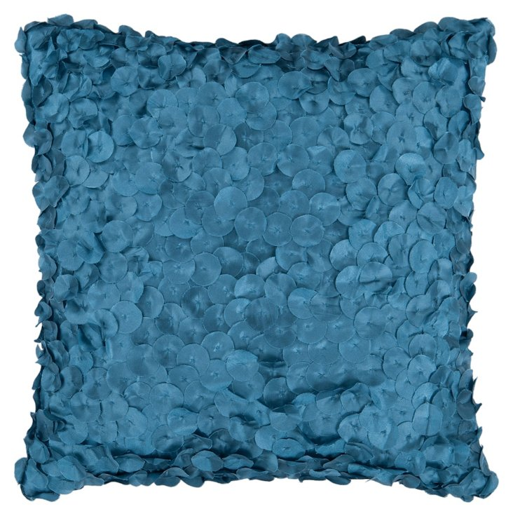 Petals 18x18 Pillow, Blue