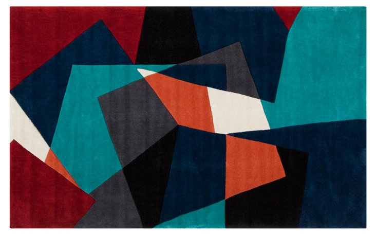 Essex Rug, Teal/Midnight/Multi