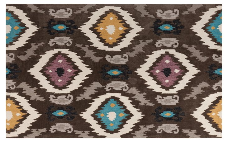 Lida Rug, Brown/Multi