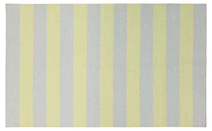 Artemis Flat-Weave Rug, Wasabi