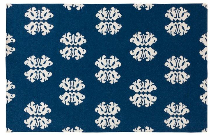 Notaro Flat-Weave Rug, Blue