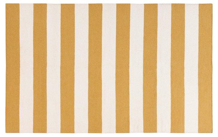 """2'6""""x8' Hermes Flat-Weave Runner, Golden"""