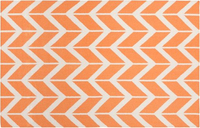 Haven Flat-Weave Rug, Papaya