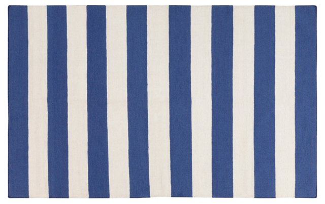 Hermes Flat-Weave Rug, Blue