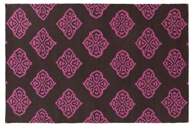 Notaro Flat-Weave Rug, Raspberry