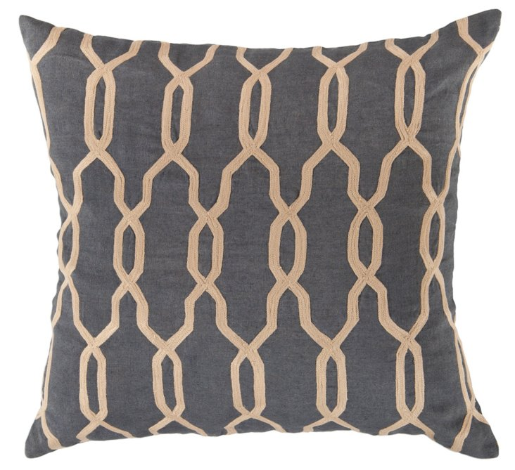 Mediterranean 18x18 Pillow, Gray
