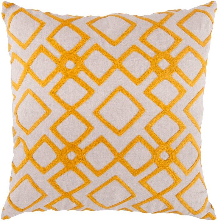Mill Linen Pillow, Tangerine