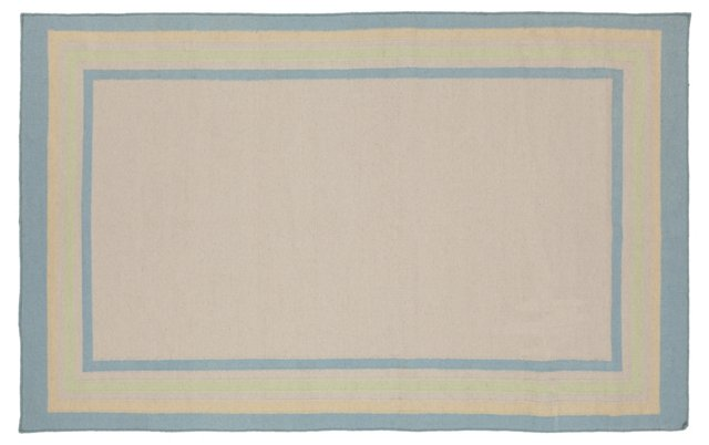 Lagan Flat-Weave Rug, Soft Blue