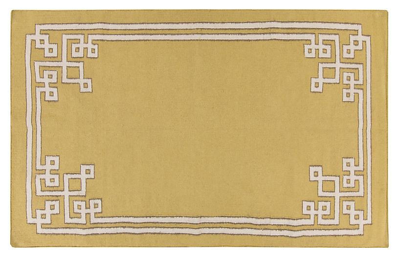 Alameda Flat-Weave Rug, Split Pea