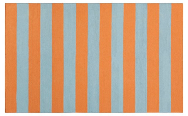 Hermes Flat-Weave Rug, Orange