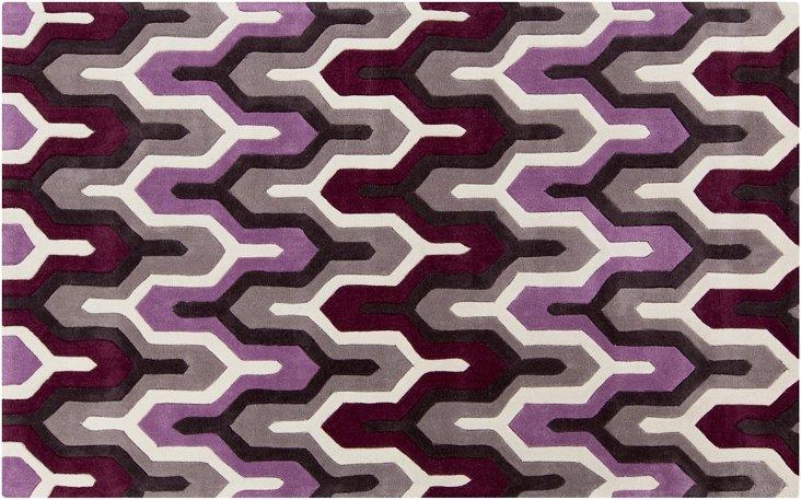 """2'6""""x8' Hudson Runner, Purple"""