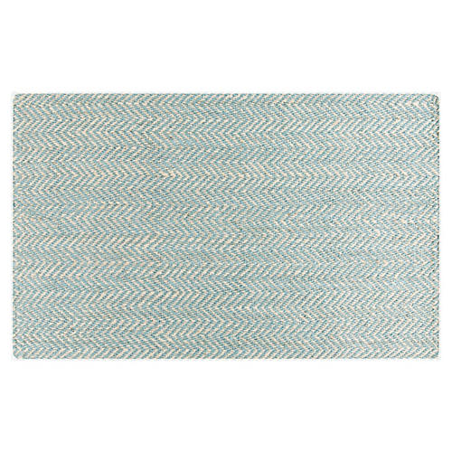 Ophion Jute Rug, Blue