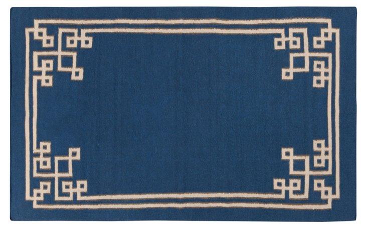 Alameda Flat-Weave Rug, Blue