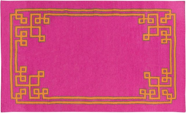 Alameda Flat-Weave Rug, Pink