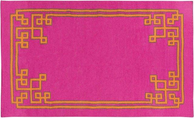 8'x11' Alameda Flat-Weave Rug, Pink