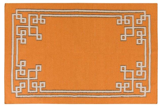 Alameda Flat-Weave Rug, Orange