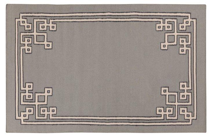 Alameda Flat-Weave Rug, Gray