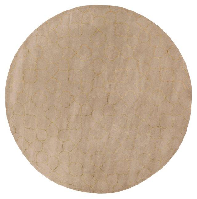 8' Round Candace Rug, Slate/Old Gold