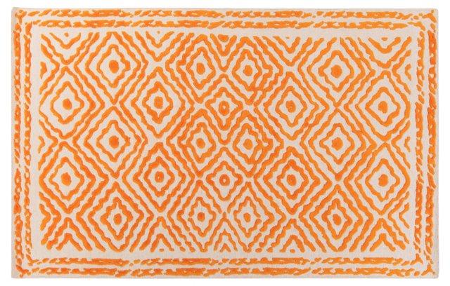 Ruess Flat-Weave Rug, Burnt Orange