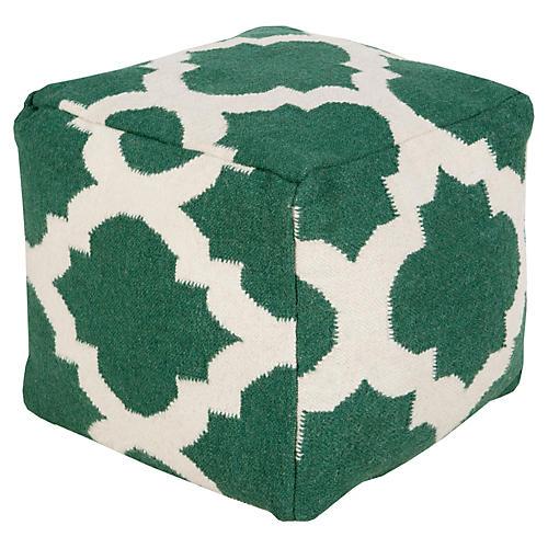 Everett Pouf, Green/White