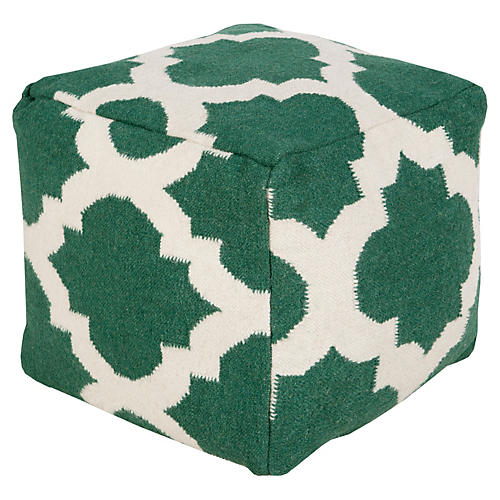 Everett Pouf, Green/White