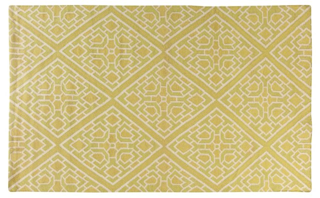 Vesta Flat-Weave Rug, Green